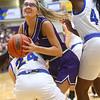 2-15-20<br /> Northwestern vs Homestead girls basketball regional championship<br /> Madison Layden looks to the basket.<br /> Kelly Lafferty Gerber | Kokomo Tribune