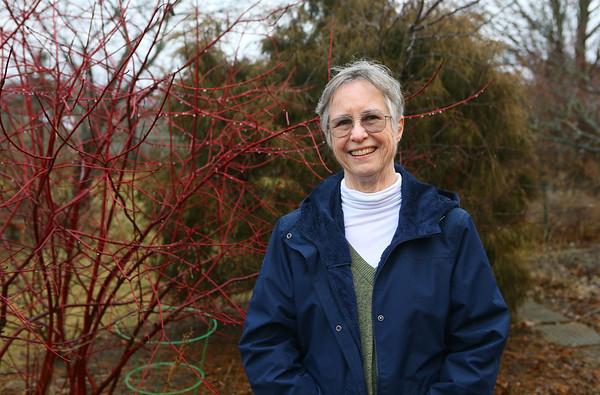 Master gardener Emily Roark in her backyard.<br /> Kelly Lafferty Gerber | Kokomo Tribune