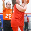 Johna Deem of the Howard County Aristokats looks to the basket during the 3-on-3 game against the Cass County Tigers in the Special Olympics of Howard County basketball tournament at Kokomo High School on Saturday, January 11, 2020.<br /> Kelly Lafferty Gerber | Kokomo Tribune