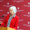 Indiana University Kokomo officials including Jan Halperin, vice chancellor for university advancement, announce the launch of a $3 million fund raising campaign to help pay for the new Student Activities and Event Center on January 27, 2020. <br /> Tim Bath | Kokomo Tribune