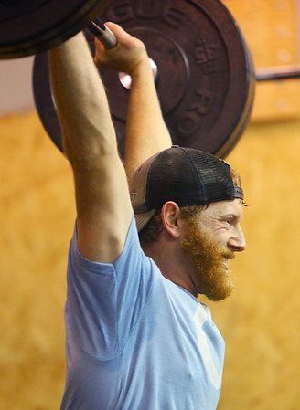 Brad Smith lifts weights at CrossFit Kokomo on January 4, 2020.<br /> Kelly Lafferty Gerber | Kokomo Tribune