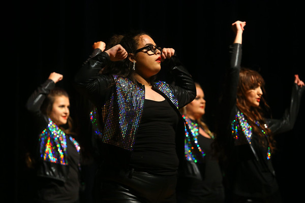 Taylor High School's Glitz & Glamour Show Choir's pre-cruise performance featuring music from different female performers from the 1940s-2000s on Thursday, Jan. 9, 2020. The show choir will be performing as part of the entertainment line up on the Carnival Elation  cruising to the Bahamas January 16-20. <br /> Kelly Lafferty Gerber | Kokomo Tribune
