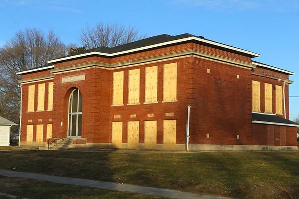 Douglass School, at 1104 N. Bell Street, on January 8, 2020.<br /> Kelly Lafferty Gerber | Kokomo Tribune