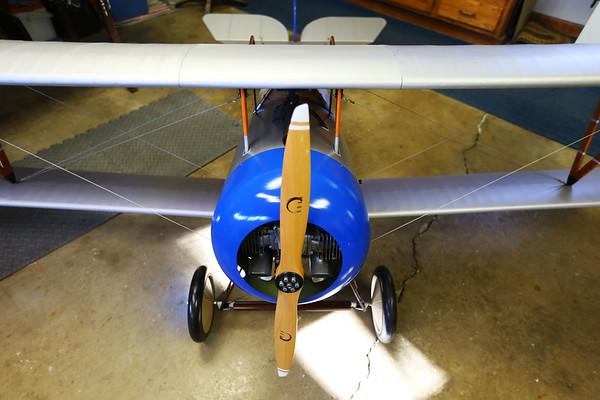 Chuck Fowler makes his own RC airplanes on January 8, 2020.<br /> Tim Bath | Kokomo Tribune