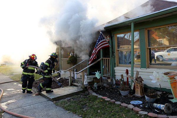 A fire caused extensive damage to a house at 1235 South Locke Street on Wednesday January 8, 2020. The owner, Pauline Rash had to be carried out by her son before Kokomo firefighters arrived.<br /> Tim Bath | Kokomo Tribune