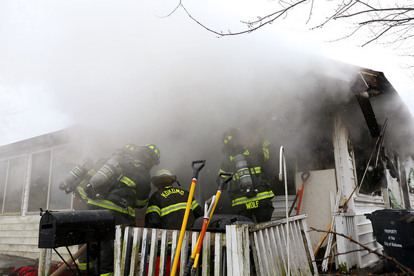 A house at 923 East Elm Street was severely damaged after a Saturday afternoon fire on January 27, 2020. <br /> Tim Bath | Kokomo Tribune