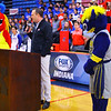 Jeremiah Johnson from Fox Sports Indiana on Wednesday January 8, 2020, announcing Kokomo HS as the host of their Basketball Day in Indiana on Feb. 8. Kokomo will host 4 games that day and FS Indiana will televise all four.<br /> Tim Bath | Kokomo Tribune