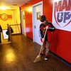 Lecion Bricknell sweeping the floors at Kokomo Urban Outreach on January 27, 2020. <br /> Tim Bath | Kokomo Tribune