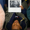 The Community Ecumenical Service Honoring Rev. Dr. Martin Luther King, Jr. starting at Second Missionary Baptist Church on January 20, 2020. The service concluded with a march to the MLK Memorial down Apperson Way. Ten year-old Keyton Pettiford sings along during the three hour service.<br /> Tim Bath | Kokomo Tribune