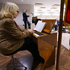 Pastor Ruth Lawson plays an old Salvation Army street organ as Mark Mayfield leads the songs duirng the Mayor's Prayer & Action Breakfast on January 6, 2020.<br /> Tim Bath | Kokomo Tribune