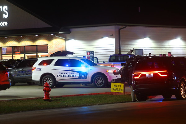 Two people were found with gunshot wounds at Casey's in Greentown at 900 West and Ind 22 on Monday evening January 13, 2020. Investigating are Howard County Sheriff's Department, Greentown Police and the Howard County Coroner.<br /> Tim Bath | Kokomo Tribune