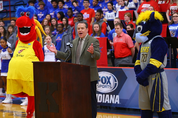 Fox Sports Indiana on Wednesday January 8, 2020, announcing Kokomo HS as the host of their Basketball Day in Indiana on Feb. 8. Kokomo will host 4 games that day and FS Indiana will televise all four.<br /> Tim Bath   Kokomo Tribune