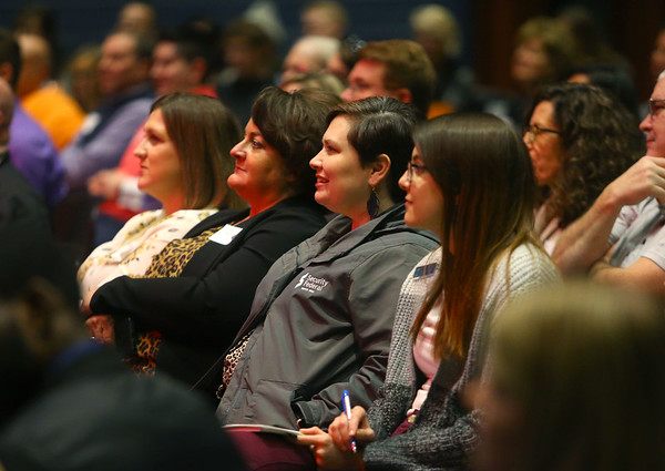 The crowd listens to a series of speakers at the Kokomo CEO Summit on Jan. 29, 2020.<br /> Kelly Lafferty Gerber | Kokomo Tribune