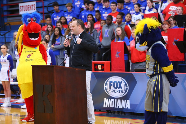 Fox Sports Indiana on Wednesday January 8, 2020, announcing Kokomo HS as the host of their Basketball Day in Indiana on Feb. 8. Kokomo will host 4 games that day and FS Indiana will televise all four.<br /> Tim Bath | Kokomo Tribune