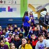 Elwood Haynes Elementary students were treated to birds of prey from the American Eagle Foundation thanks to a grant by Duke Energy on January 28, 2020. Carly Hamilton holds a red tail hawk for the kids to see up close.<br /> Tim Bath | Kokomo Tribune