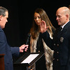 Mayor Tyler Moore gives the oath of office to Kokomo Fire Department Chief Chris Frazier in front of hundreds at Central Middle School on January 1, 2020.<br /> Tim Bath | Kokomo Tribune