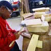 Kokomo Urban Outreach programs that teach kids life skills and helps them earn some money on January 27, 2020. Japrece Walkup-Evans, 10 working on the boxes that will be completed in the paint shop to sell.<br /> Tim Bath | Kokomo Tribune