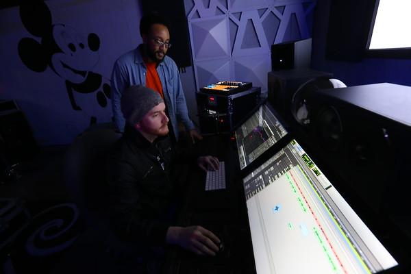 Kory West, master recorder on January 10, 2020. working on a project with DeRay Boyd.<br /> Tim Bath   Kokomo Tribune
