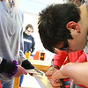Kokomo Urban Outreach programs that teach kids life skills and helps them earn some money on January 27, 2020. Kaden Breidinger, 15, measuring blocks of wood to make boxes for the project they are working on in the Up Program.<br /> Tim Bath | Kokomo Tribune