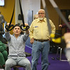 Dakota Cole demonstrates how to use some of the equipment to Tipton's Anytime Fitness Actively Aging class on Jan. 22, 2020. Cole and the gym were on Undercover Boss when brand president of Anytime Fitness came for a visit.<br /> Kelly Lafferty Gerber | Kokomo Tribune