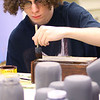 Kokomo Urban Outreach programs that teach kids life skills and helps them earn some money on January 27, 2020. Dayton Phelps, 17, painting mason jars as part of the project they are working on in the Up Program.<br /> Tim Bath | Kokomo Tribune