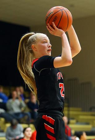 1-29-19<br /> Taylor vs Alexandria girls basketball<br /> Taylor's Kelsi Langley shoots.<br /> Kelly Lafferty Gerber | Kokomo Tribune