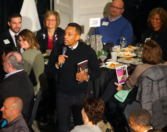 """Hill Harper, star of ABC's """"The Good Doctor"""" and New York Times best-selling author of """"Letters to a Young Brother,"""" spoke on issues with incarceration in America during Ivy Tech Kokomo's annual Doing the Dream Dr. Martin Luther King Jr. banquet on Thursday night, Jan. 23, 2020.<br /> Kelly Lafferty Gerber 