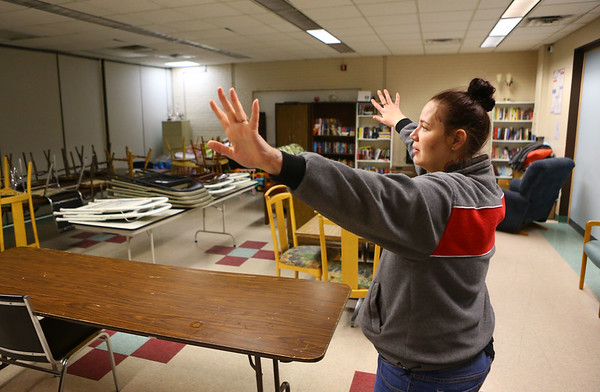 Gilead House resident Kelsey Culp shows the different rooms in the building on Jan. 22, 2020.<br /> Kelly Lafferty Gerber | Kokomo Tribune