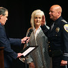 Mayor Tyler Moore gives the oath of office to Kokomo Police Department Chief Doug Stout in front of hundreds at Central Middle School on January 1, 2020.<br /> Tim Bath | Kokomo Tribune