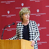 Indiana University Kokomo officials announce the launch of a $3 million fund raising campaign to help pay for the new Student Activities and Event Center on January 27, 2020. Chancellor Susan Sciame-Giesecke kicks off the press conference.<br /> Tim Bath | Kokomo Tribune