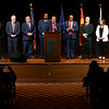 After the oath of office Tyler Moore gives a short speech with the Kokomo City Clerk and Kokomo City Council who also took the oaths at Central Middle School on January 1, 2020.<br /> Tim Bath | Kokomo Tribune