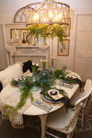Karen Horton's table setting on Jan. 24, 2020.<br /> Kelly Lafferty Gerber | Kokomo Tribune