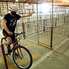 Isaac Elkin, 16, signals he is turning left as he participates in the Howard County 4-H Fair's Bicycle Rodeo on Thursday, July 9, 2020. Elkin was named grand champion.<br /> Kelly Lafferty Gerber | Kokomo Tribune