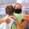 Ella Byrum, right, hugs her sister and fellow Supreme Showman competitor Eliza Byrum after Ella is named the Howard County 4-H Supreme Showman on Wednesday, July 15, 2020.<br /> Kelly Lafferty Gerber   Kokomo Tribune