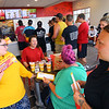 Taco John's on Broadway in Peru opened Monday morning July 20, 2020. Some people camped out all night to be one of the first 100 who received FREE Potato Oles for a year. Siearah Parson, Dianna Paul, Krystal Campbell and Katie Guntle all arrived last night for the 10 a.m. opening Monday.<br /> Tim Bath | Kokomo Tribune