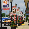 Sixty-five Hometown Heroes banners line the streets of Tipton honoring local veterans on July 1, 2020. Besides honoring veterans, the banners are a fundraising effort by the Main Street Association. Greentown has also adopted the program.<br /> Tim Bath | Kokomo Tribune