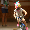 6-year-old Sophia Good participates in the Howard County 4-H Fair's Bicycle Rodeo on Thursday, July 9, 2020.<br /> Kelly Lafferty Gerber | Kokomo Tribune
