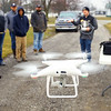 Purdue Extension UAV Signature Program drone training held at the Tipton County fairgrounds ending with flying skills training on March 2, 2020. Instructor Austin Person instructs the class as they work on some flying practice.<br /> Tim Bath | Kokomo Tribune
