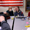 Grab and Go breakfast being offered at Bon Air Middle School on March 6, 2020. Chase Booth, Anastasia Ward-Nichols, Kendall Walters and Dillon Hipsher eat part of their breakfast before class and take parts with them to class.<br /> Tim Bath | Kokomo Tribune