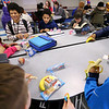 Grab and Go breakfast being offered at Bon Air Middle School on March 6, 2020. Some kids eat in the cafeteria others take the food to class and eat it later.<br /> Tim Bath | Kokomo Tribune