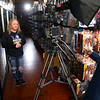 Co-owner Amber Jordan gets the thumbs up from Mike Dukes as he films her interview at Kokomo Toys & Collectibles on April 18, 2020. Kokomo Toys & Collectibles will be featured on an Amazon Prime docuseries 'A Toy Store Near You,' which highlights toy stores across the world and how they've had to adapt during the coronavirus pandemic.<br /> Kelly Lafferty Gerber | Kokomo Tribune