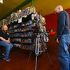 Mike Dukes, right, films an interview with Kokomo Toys' volunteer Kim Burton on April 18, 2020. Kokomo Toys & Collectibles will be featured on an Amazon Prime docuseries 'A Toy Store Near You,' which highlights toy stores across the world and how they've had to adapt during the coronavirus pandemic.<br /> Kelly Lafferty Gerber | Kokomo Tribune
