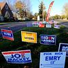 Signs in front of Shiloh United Methodist Church on election day Nov. 3, 2020.<br /> Tim Bath | Kokomo Tribune