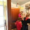 Caroline, Savannah and Lilly Hunt clean eggs in the mudroom on October 3, 2020.<br /> Kelly Lafferty Gerber | Kokomo Tribune