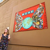 Arists discuss their art during the grand opening of the new exhibit in Artist Alley, featuring 16 new pieces on display during First Friday, on September 4, 2020 in downtown Kokomo.<br /> Kelly Lafferty Gerber | Kokomo Tribune
