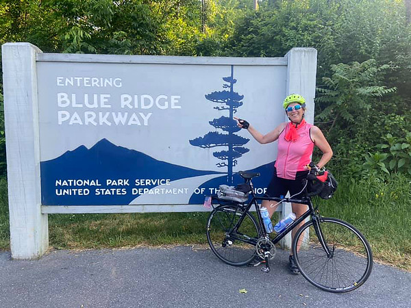 One of the stops Donita made along her cross-country bike ride this summer.<br /> Photo Provided