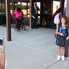 8-2-21<br /> Zoie Riddle takes photos of daughter Willow Stabler on the first day of school for Kokomo's Wallace Elementary School of Integrated Arts on Monday.<br /> Tim Bath   Kokomo Tribune
