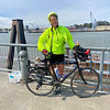 Donita Walters biked from the east coast to the west coast and ended her cross-country journey in San Francisco.<br /> Photo Provided