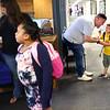 8-2-21<br /> Drew Larison says goodbye to son Jude on the first day of school for Kokomo's Wallace Elementary School of Integrated Arts on Monday.<br /> Tim Bath | Kokomo Tribune