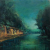 The Mississinewa River at Seven Pillars, in pastels by Avon Waters.<br /> Photo provided